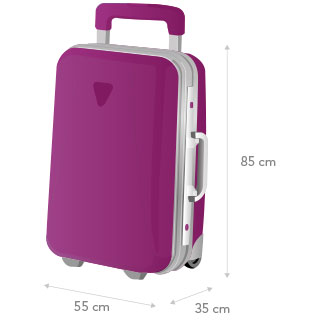 The total weight of the 3 baggage items must not exceed 25 kg. b0b7a874f
